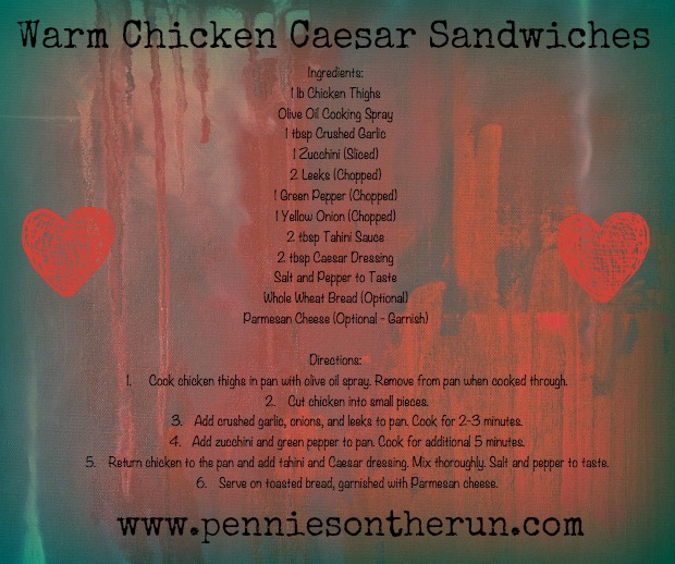 Warm Chicken Caesar Sandwiches